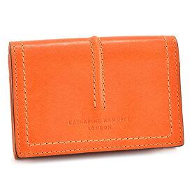 キャサリンハムネット 名刺入れ カードケース オレンジ KATHARINE HAMNETT LONDON khp510-42 レディース 婦人