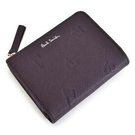 ポールスミス 財布 二つ折り財布 L字ファスナー 紫(パープル) Paul Smith psc006-34 メンズ 紳士