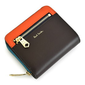 ポールスミス 財布 二つ折り財布 ラウンドファスナー チョコ Paul Smith psc731-71 メンズ 紳士