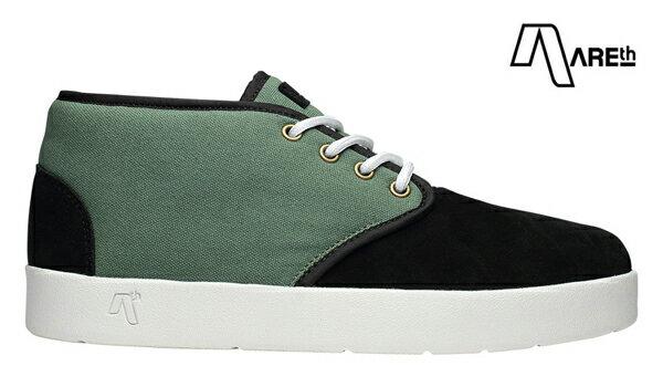 【AREth】BULIT カラー:black/lt.green 【アース】【スケートボード】【シューズ】