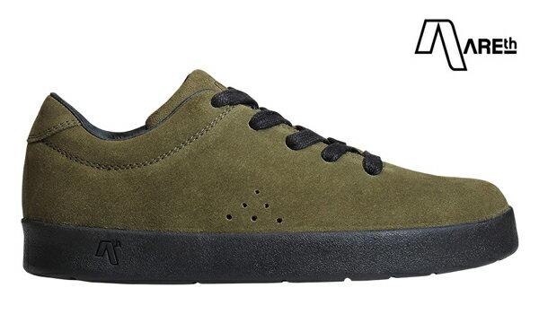 【AREth】I lace カラー:moss green 【アース】【スケートボード】【シューズ】