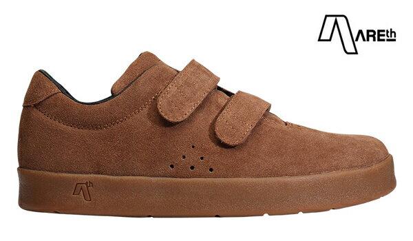 【AREth】I velcro カラー:brown 【アース】【スケートボード】【シューズ】