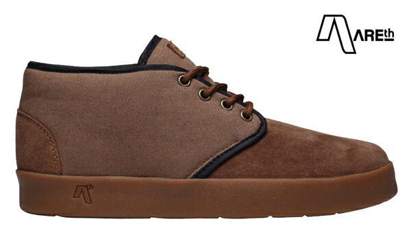 【AREth】BULIT カラー:brown 【アース】【スケートボード】【シューズ】