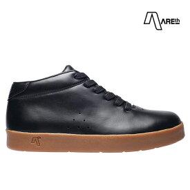 【AREth】II カラー:black leather アース シューズ 靴 スニーカー スケートボード スケボー SKATEBOARD