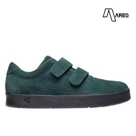 【AREth】I VELCRO カラー:dark green アース シューズ 靴 スニーカー スケートボード スケボー SKATEBOARD