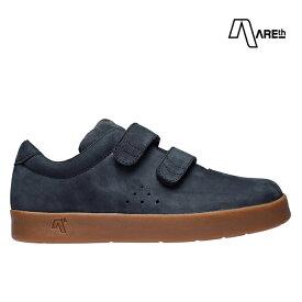 【AREth】I VELCRO カラー:navy nubuck アース シューズ 靴 スニーカー スケートボード スケボー SKATEBOARD