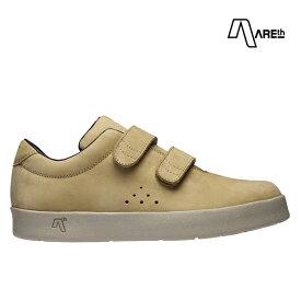 【AREth】I VELCRO カラー:beige nubuck アース シューズ 靴 スニーカー スケートボード スケボー SKATEBOARD
