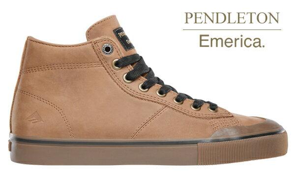 【Emerica×PENDLETON】INDICATOR HI カラー:brown/gum 【エメリカ】【スケートボード】【シューズ】