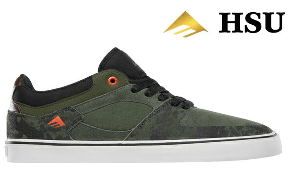 【Emerica】HSU LOW VULC カラー:green/black/white 【エメリカ】【スケートボード】【シューズ】