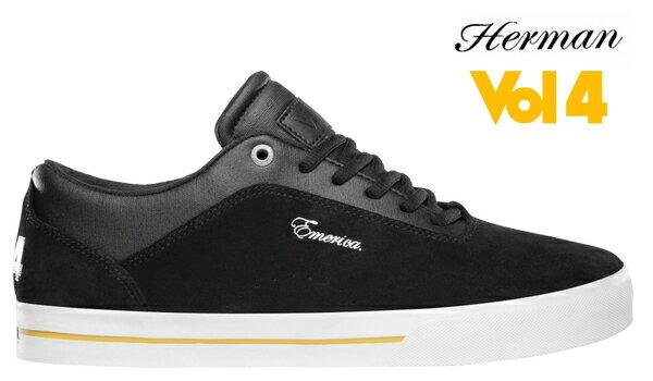 【Emerica×VOL4】G-CODE RE-UPカラー:black/white/gold 【エメリカ】【スケートボード】【シューズ】