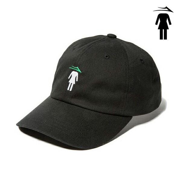 【LAKAI×GIRL】FLARE GIRL DAD HATカラー:black 【ラカイ】【ガール】【スケートボード】【帽子/キャップ】