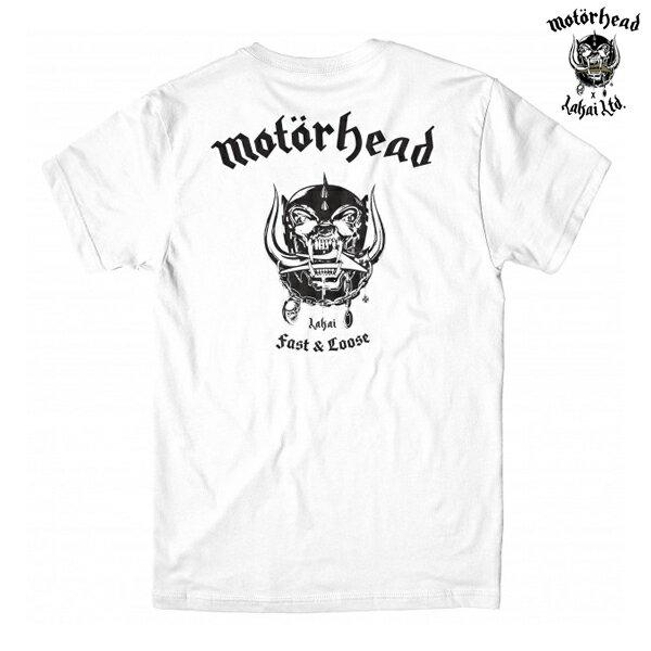 【LAKAI×MOTORHEAD】WARPIG TEE カラー:white 【ラカイ】【モーターヘッド】【スケートボード】【Tシャツ/半袖】