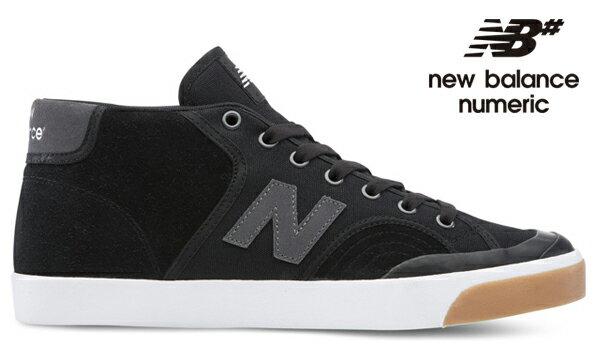 【NEW BALANCE NUMERIC】PRO COURT MID 213 NM213WGBカラー:black/gum 【ニューバランスヌメリック】【スケートボード】【シューズ】