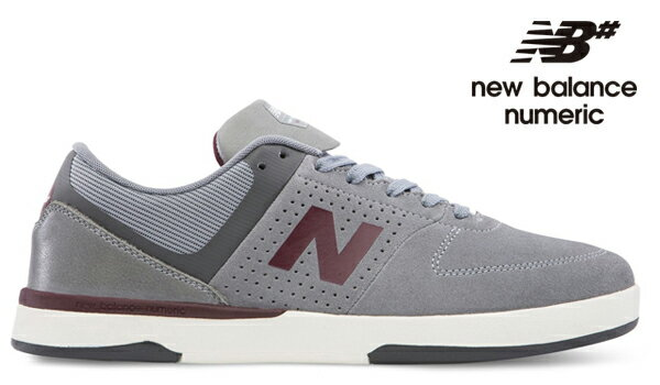 【NEW BALANCE NUMERIC】PJ LADD 533 V2NM533GB2 カラー:gray/burgundy 【ニューバランスヌメリック】【スケートボード】【シューズ】
