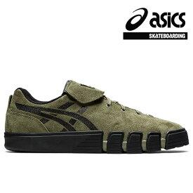 【asics skatebording】GEL-FLEXKEE カラー:mantle green/black アシックス スケートボーディング スケートボード スケボー シューズ 靴 スニーカー SKATEBOARD SHOES