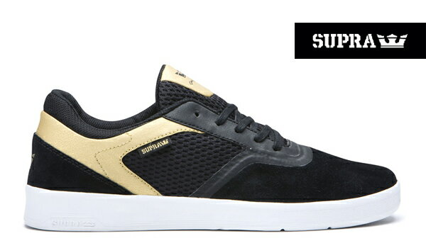 【SUPRA】SAINT カラー:black/gold 05674-076【スープラ】【スケートボード】【シューズ】