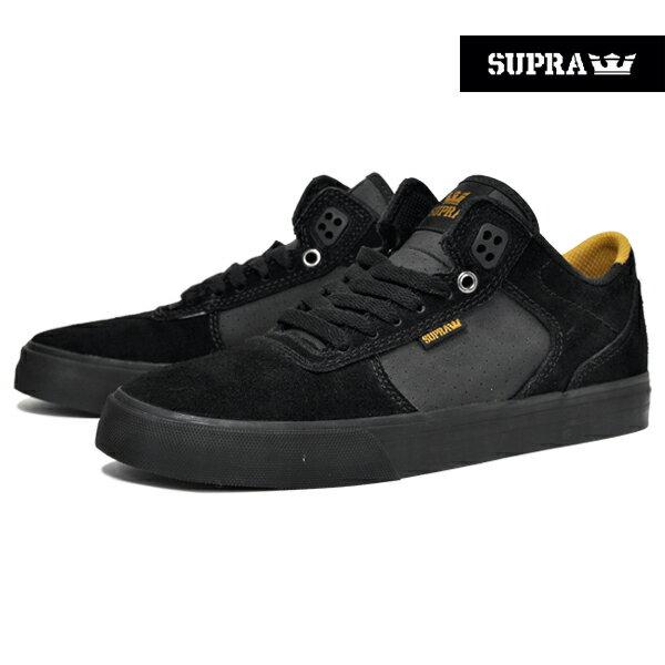 【SUPRA】ELLINGTON VULC カラー:black/amber gold-black 【スープラ】【スケートボード】【シューズ】【ラスト一足 26cm】