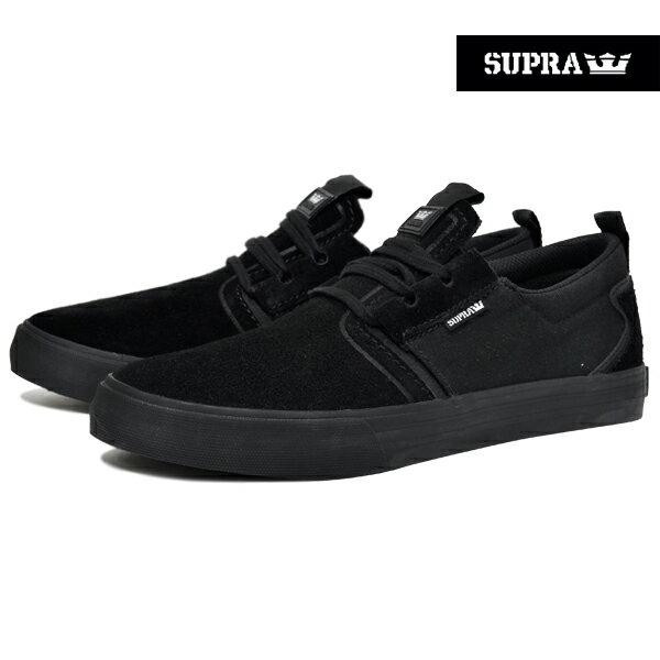 【SUPRA】FLOW カラー:black-black 08325-001【スープラ】【スケートボード】【シューズ】【ラスト一足 27cm】