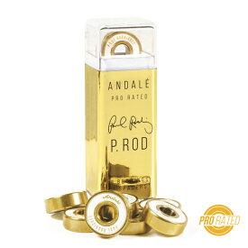 【Andale】Paul Rodriguez Pro Rated BearingsP-ROD Signature Model【アンダレ】【ポール・ロドリゲス】【スケートボード】【ベアリング】