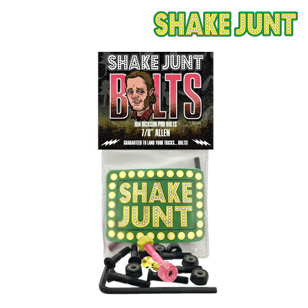 【SHAKE JUNT】JON DICKSON PRO BOLTS 【シェイク ジャント】【スケートボード】【ボルト】