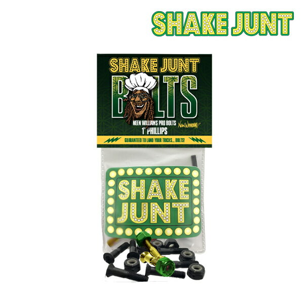 【SHAKE JUNT】NEEN WILLIAMS PRO BOLTS【シェイク ジャント】【スケートボード】【ボルト】