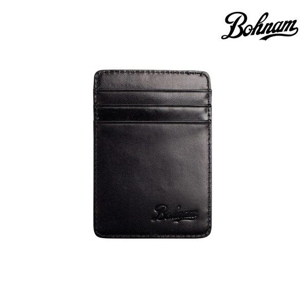 【BOHNAM】OXBOW CLIP WALLET カラー:black 【ボーナム】【スケートボード】【サイフ/カードケース】