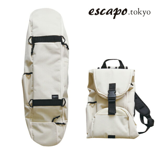 【escapo.tokyo】E04-IVLP カラー:ivory/light pink 【エスカポ】【スケートボード】【バックパック/スケートバッグ】