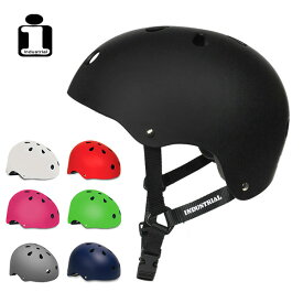 【INDUSTRIAL】ヘルメット インダストリアル プロテクター HELMET 大人 子供 キッズ スケートボード スケボー SKATEBOARD