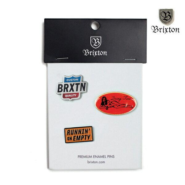 【BRIXTON】GARTH pin pack カラー:multi 【ブリクストン】【スケートボード】【ピンズ/小物】
