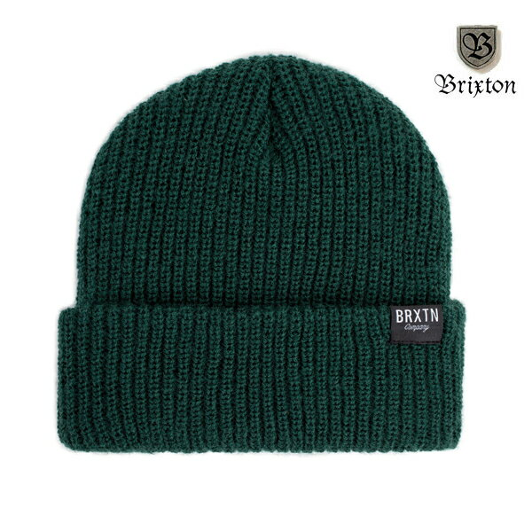 【BRIXTON】REDMOND beanie カラー:hunter green 【ブリクストン】【スケートボード】【ビーニー/ニット帽】