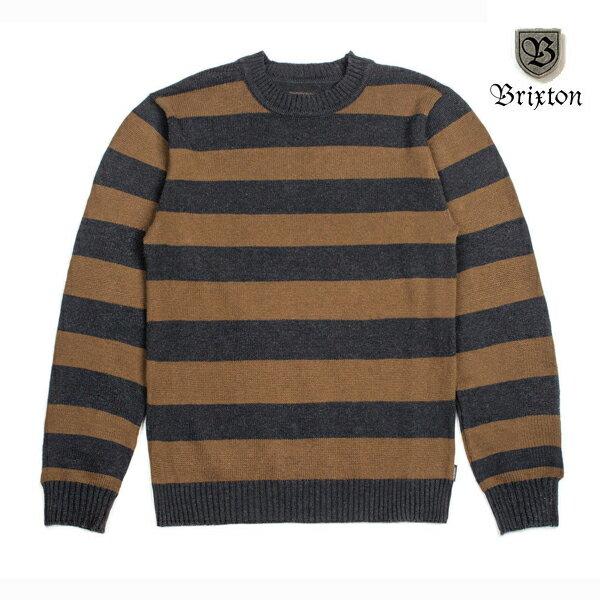 【BRIXTON】WES sweater カラー:washed black【ブリクストン】【スケートボード】【セーター】