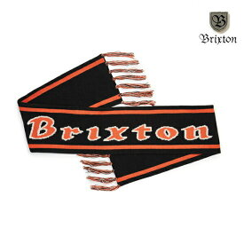 【BRIXTON】PROXY SCARF カラー:black/orange ブリクストン スカーフ マフラー スケートボード スケボー SKATEBOARD