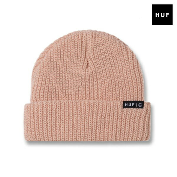 【HUF】USUAL BEANIE カラー:dusty pink 【ハフ】【スケートボード】【ビーニー/ニット帽】