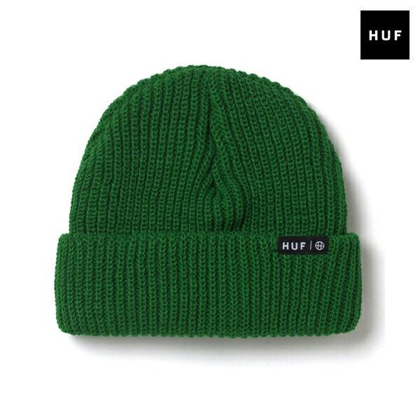 【HUF】USUAL BEANIE カラー:kelly 【ハフ】【スケートボード】【ビーニー/ニット帽】