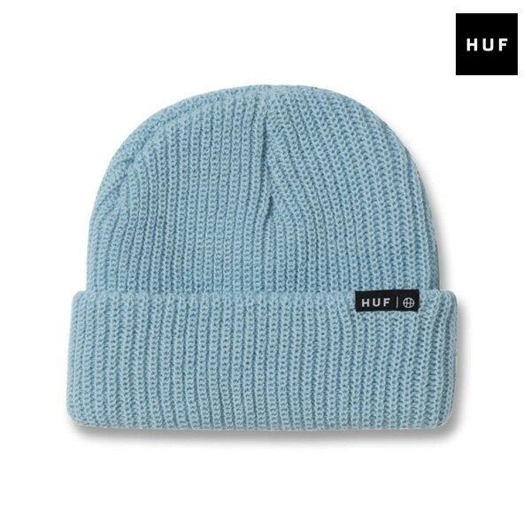 【HUF】USUAL BEANIE カラー:light blue 【ハフ】【スケートボード】【ビーニー/ニット帽】