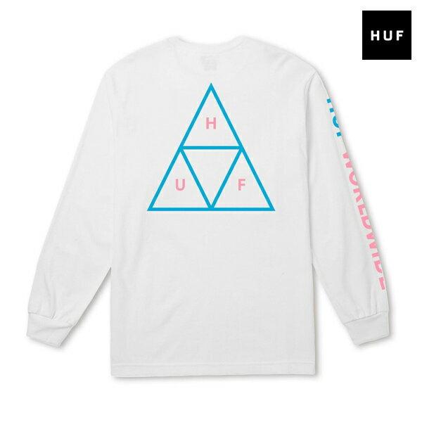 【HUF】TRIPLE TRIANGLE LS TEEカラー:white 【ハフ】【スケートボード】【Tシャツ/ロングスリーブ】