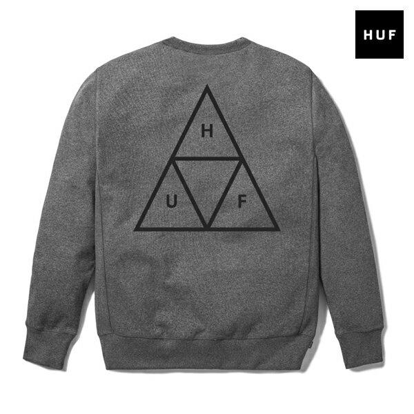 【HUF】TRIPLE TRIANGLE CREWNECK カラー:grey【ハフ】【スケートボード】【スウェット/クルーネック】