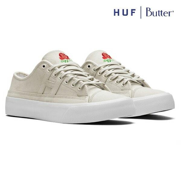【HUF×BUTTERGOODS】HUPPER 2 LOカラー:natural 【ハフ】【バターグッズ】【スケートボード】【シューズ】