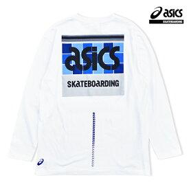 【asics skatebording】SK8 LONG SLEEVE TOP カラー:brilliant white アシックス スケートボーディング ティーシャツ 長袖 スケートボード スケボー SKATEBOARD