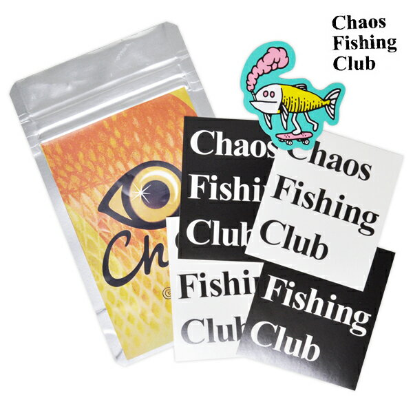 【Chaos Fishing Club】STICKER PACK カラー:multi 【カオス フィッシング クラブ】【スケートボード】【ステッカー】