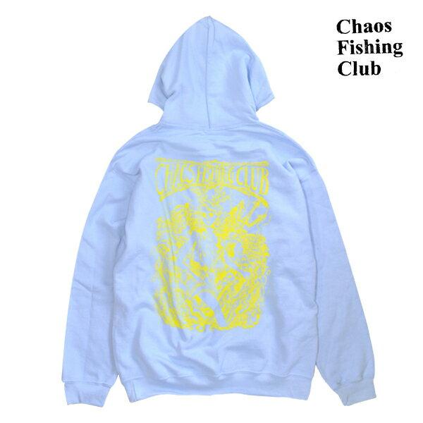 【Chaos Fishing Club】PP HOOD カラー:blue/yellow 【カオス フィッシング クラブ】【スケートボード】【フード/プルオーバー】
