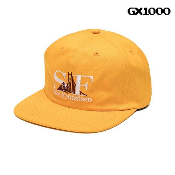 【GX1000】GXSF 6 PANEL カラー:gold 【ジーエックスワンサウザンド】 【スケートボード】【帽子/キャップ】
