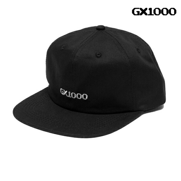 【GX1000】OG LOGO 6 PANEL カラー:black 【ジーエックスワンサウザンド】 【スケートボード】【帽子/キャップ】