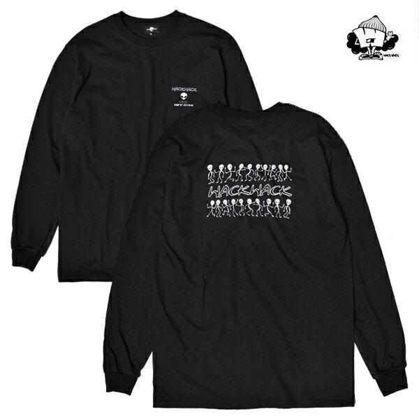 【WACKWACK】THX COMING LS tee カラー:black 【ワックワック】【スケートボード】【Tシャツ/ロングスリーブ】