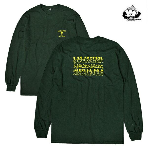 【WACKWACK】THX COMING LS tee カラー:green 【ワックワック】【スケートボード】【Tシャツ/ロングスリーブ】