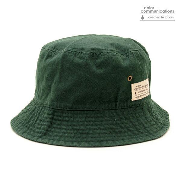 【COLOR COMMUNICATIONS】COTTON TAG BUCKET カラー:green 【カラーコミュニケイションズ】【スケートボード】【キャップ/ハット】