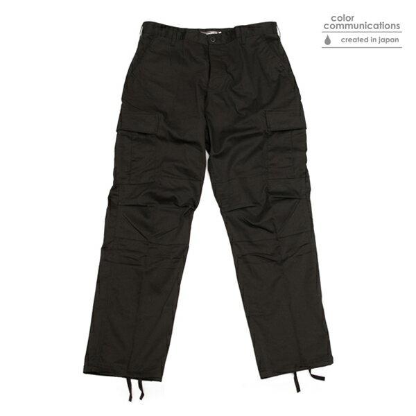 【COLOR COMMUNICATIONS】BDU TW CARGO カラー:black 【カラーコミュニケイションズ】【スケートボード】【パンツ/カーゴ】