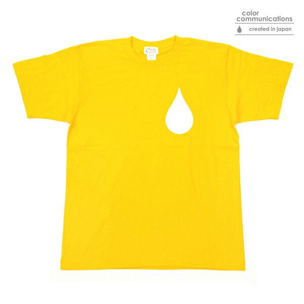 【COLOR COMMUNICATIONS】DRIP FILL 18 カラー:yellow 【カラーコミュニケイションズ】【スケートボード】【Tシャツ/半袖】