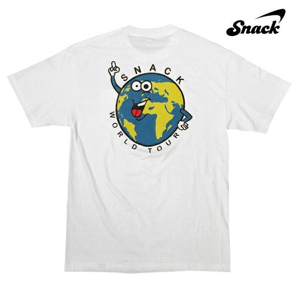 【SNACK】WORLD TOUR POCKET tee カラー:white 【スナック】【スケートボード】【Tシャツ/半袖】