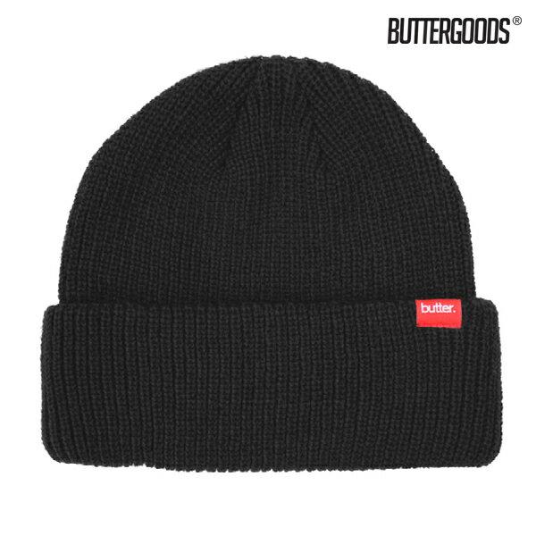 【BUTTER GOODS】WHARFIE BEANIE カラー:black 【バターグッズ】【スケートボード】【キャップ/ビーニー】